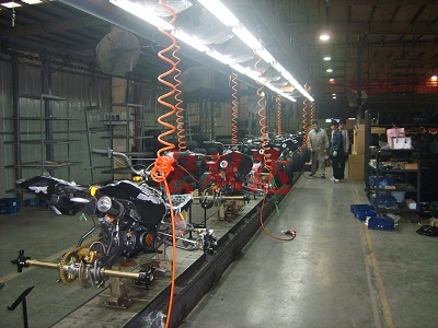 巴山摩托生产线