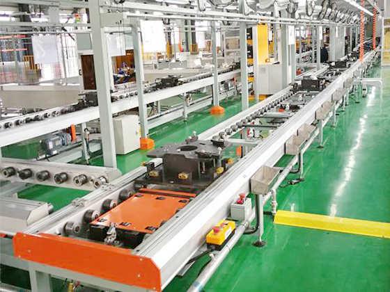 北京里斯特发动机装配线
